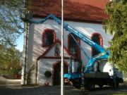 LKW-Arbeitsbühne-Bison-TKA-28-KS-Dachsanierung-Kirche-1